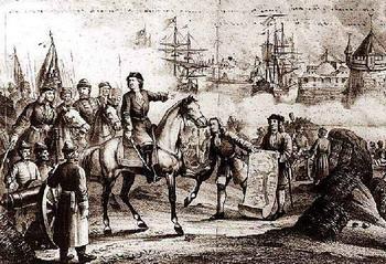 Камышин был основан Петром Первым по время Азовского похода