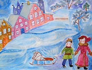 конкурс рисунков о зиме 2014-2015