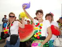 Ярко и дружно показали себя камышинские ТОСы в параде Арбузного фестиваля