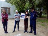 Сотрудники Госавтоинспекции провели в детском лагере «Солнечный» профилактическое мероприятие «Я знаю ПДД»