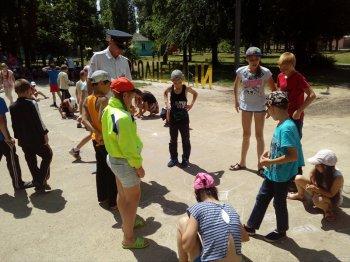 Сотрудники Госавтоинспекции провели мероприятие в детском лагере «Солнечный»