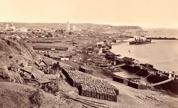 Камышинская пристань на Волге (конец 19-го века)