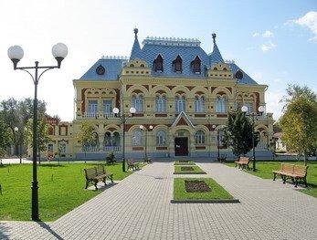 Здание историко-краеведческого музея в Камышине на набережной р.Волга