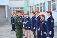 Зачет по строевой подготовке кадетов школы №7